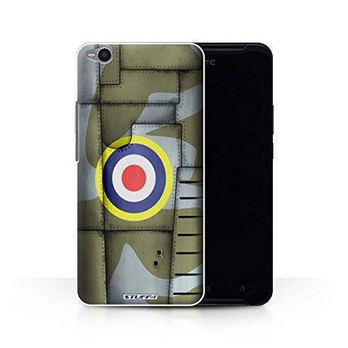 Stuff4 Var voor HTC1-CC Vliegtuig Fighter Wing HTC One X9 Groot-Brittannië/Groen