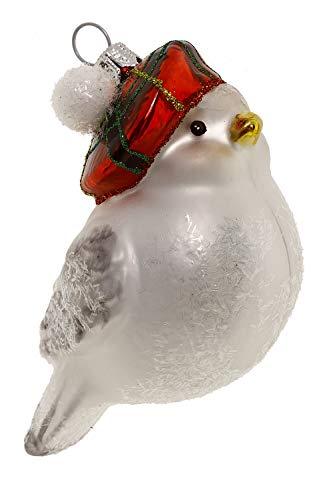 Hamburger Weihnachtskontor - Christbaumschmuck - Vogel mit Mütze
