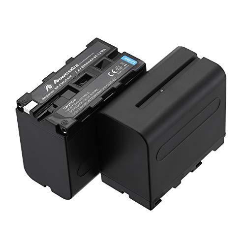 Powerextra NP-F970互換バッテリー 2個セット 8800mAh リチウムイオン電池 7.4V容量 NP F970バッテリー Sony NPF970,F750,F960,F530,F570,CCD-SC55,TR516,TR716,TR917など対応 PSE&CE認証済み (2個NP-F970バッテリー)