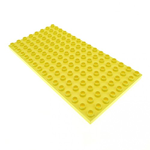 1 x Lego Duplo Bau Platte hell gelb 16 x 8 Noppen Basic Spielhaus 10505 5639 61310 6490