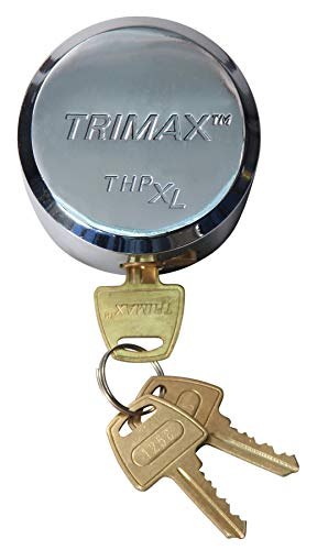 Trimax 'Hockey-Puck Internal Shackle Trailer/Shed Door Lock -Universal Fit (Re-Keyable) THPXL, Blister Packaging