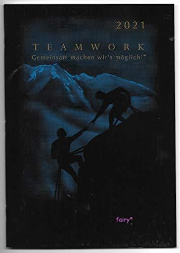Kalender 2020 Monatsplaner, Organizer, Terminplaner, 14 Monate!! Teamwork Gemeinsam machen wir's möglich! Mountains help, peak 17,8 x 25,4 cm,