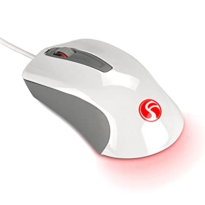 Lasiti 3-Button USB Wired Optical Mouse with RG...
