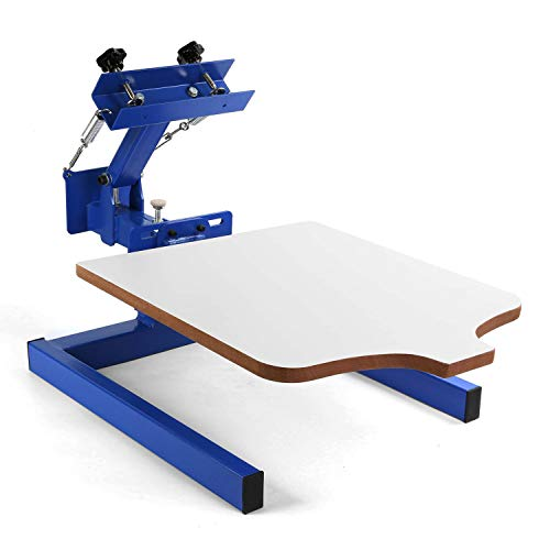 SHZOND Screen Printing Press 1 Color 1 Station Silk Screen Machine 21.7' x 17.7' Removable Pallet...