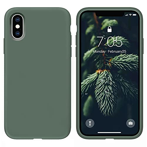 OUXUL Case for iPhone X/iPhone Xs case Liquid Silicone Gel Rubber Phone...