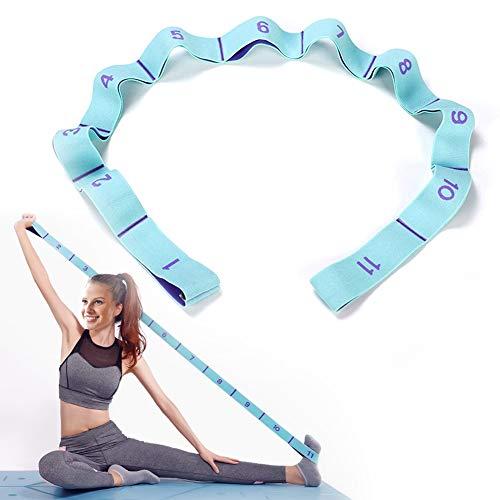 DEHUB Bandas Elasticas Fitness, Banda de Estiramiento de Yoga para NiÑ s y Adultos, Banda Elástica de Resistencia con 11 Anillos, para Pilates, Yoga, Fitness, Gimnasia, Crossfit y Danza.