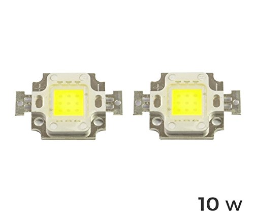 mws Pack di 2 Piastrine LED Ricambio fari LED Luce Fredda 6500k da 10 Watt