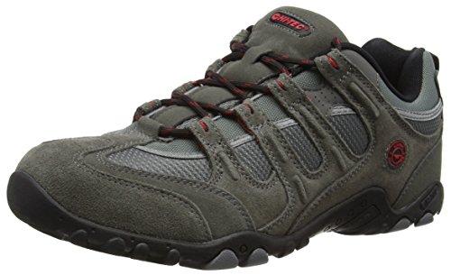Hi-Tec Quadra Classic, Zapatillas de Senderismo Hombre, Gris (Charcoal/Red 53), 44 EU