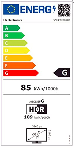 LG 55UP77009LB LED-Fernseher, schwarz, UltraHD/4K, Triple Tuner, SmartTV