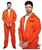 """Carcerato Fancy Dress Costume adulto taglia unica. SPALLA Larghezza: 24"""" Petto Larghezza: 24"""" Larghezza vita: 23"""" Interno gamba: 28"""""""