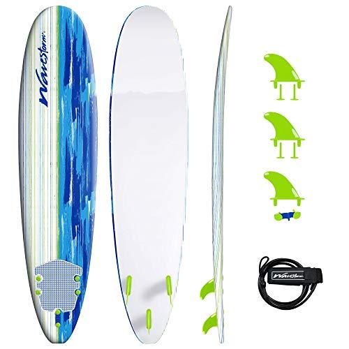 Wavestorm 8' Surfboard, Blue Mix, WS18-SFR104-BSH-S