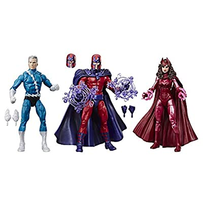 """Marvel Legends Series 6"""" Family Matters 3 Pack with Magneto, Quicksilver, & Scarlet Witch Action Figures (Amazon Exclusive) from Hasbro"""