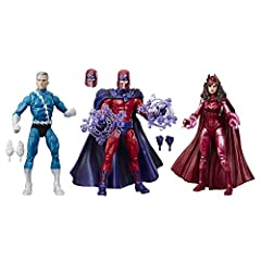 6-Inch scale collectible Magneto, Quicksilver, and Scarlet witch: revel in the momentous showdown between the X-Men and their most formidable adversaries yet: Magneto, and the dynamic brother-sister duo, Quicksilver and Scarlet witch, with these 6-in...