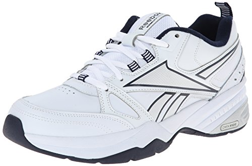 Reebok Men's Royal Mt Cross-Trainer Shoe, White/Collegiate Navy/Pure Silver, 7.5 M US