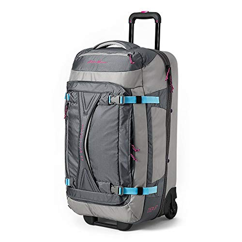 Eddie Bauer Unisex-Adult Expedition Drop-Bottom Rolling Duffel - Large, Gray Smo