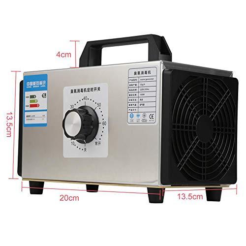 Generador De Ozono Portátil 48000Mg / H Desodorante De Máquina Comercial De Ozono Purificador De Aire para Habitaciones, Automóviles, Mascotas, Humo, Oficina