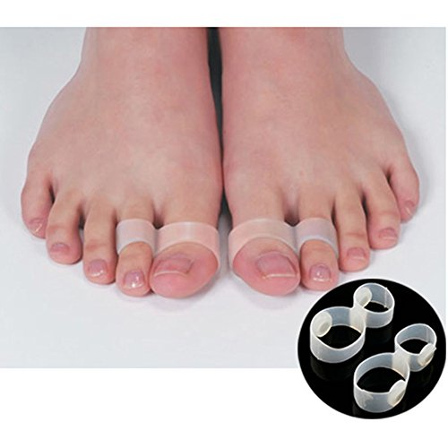 Generic 6Pcs/3Pairs Foot Massager Double Toe Rings Slimming Products Massage Slim Weight Loss Product Magnetic Toe Ring Fat Burning C423