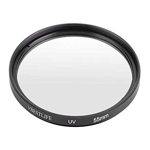 Yuyanshop Filtros de protección de lente de filtro UV ultra delgado universal para cámaras DSLR Canon/Nikon/Sony (55 mm/2.17 pulgadas)