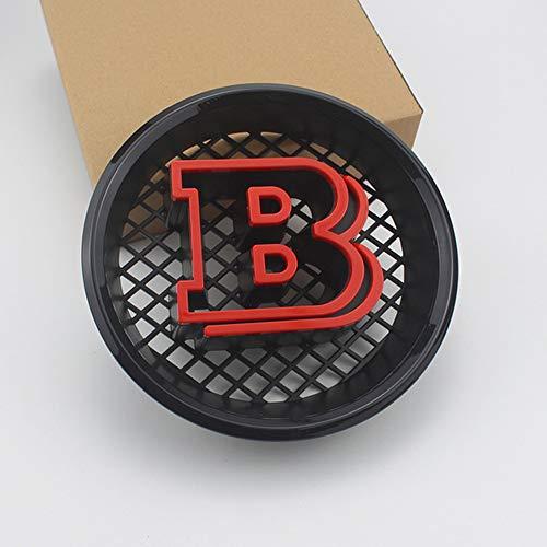 Auto-Emblem-Abzeichen-Styling Motorhaube Logo-Abzeichen für Mercedes BRABUS,Rot