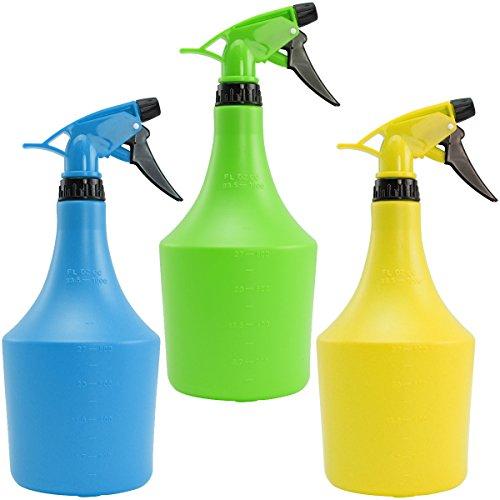com-four® 3X Blumensprüher mindestens 1 Liter, für Friseure oder zur Bewässerung Ihrer Pflanzen (03 Stück - 1 Liter)