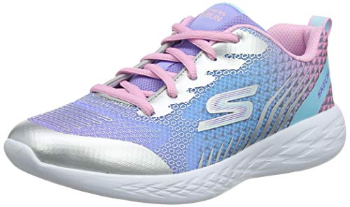 Skechers Girls' GO RUN 600-BRIGHT SPRINTS Trainers, Silver (