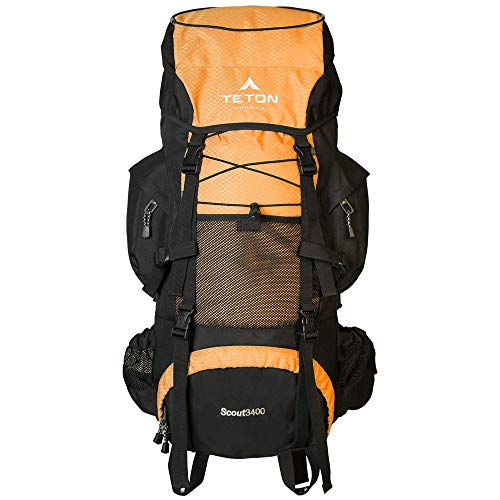 TETON Sports Scout 3400 Internal Frame Backpack; High-Performance Backpack for