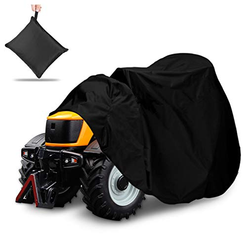 "NASUM Outdoors Lawn Mower Cover -Tractor Cover Fits Decks up to 54"", 420D Riding Lawn Mower Cover, Protection Universal Fit for Your Ride-On Garden Tractor, with Drawstring & Storage Bag(72x54x46in)…"