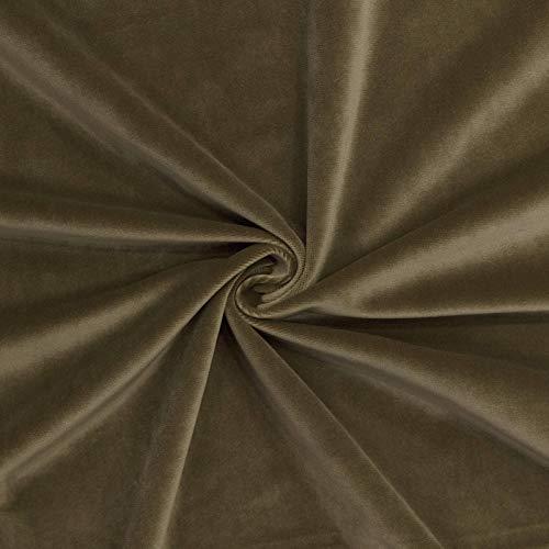 ZSYGFS 280 Cm De Ancho Tela De Terciopelo Suave Espesar para Coser De Chaquetas Decoración Decoración del Hogar Cortinas Tapicería Vestido Sillas Ropa Vendido por Metro(Color:Caqui Oscuro)