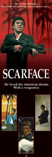 Empire Poster de porte Scarface American Dream + accessoires de fixation 20 bandes tesa Powerstrips
