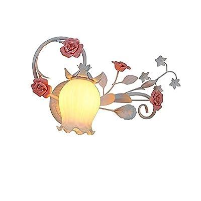 ★ [Diseño creativo] - Lámpara de pared creativa con forma de flor, es delicada, hermosa, suave y femenina, ¡simplemente hermosa!La iluminación es cálida y sutil.¡Sabe cómo hacer que una habitación luzca elegante!Creo que tus amigos comentarán lo p...