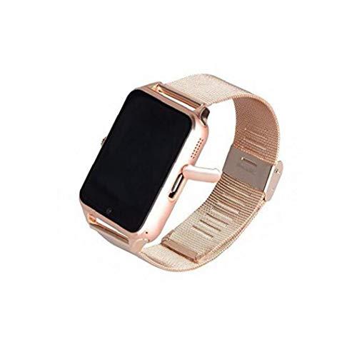 Las PC 1 Mujeres Z60 Bluetooth Inteligente Reloj Digital del Reloj Electrónico con El Acero del Brazal De La Cámara De Llamada SMS Perdido Anti Sueño Reloj De Oro