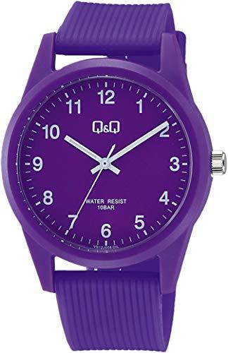 [シチズン Q&Q] 腕時計 アナログ 防水 ウレタンベルト VS40-008 パープル