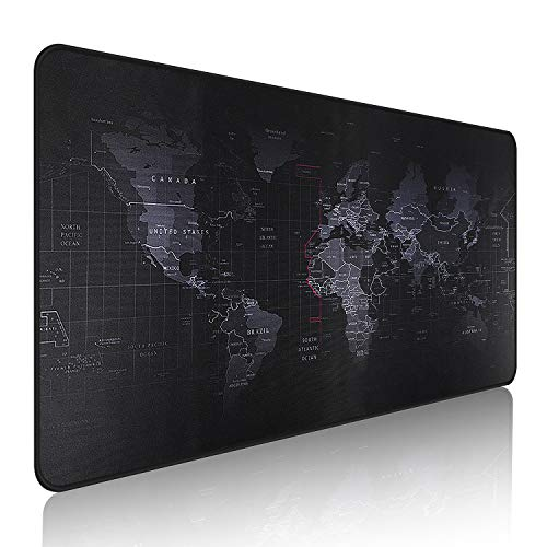 EFISH Large Gaming Mouse Map Pad,with Non-Slip Base,Waterproof and Foldable Pad,Extended XXL Size,Desktop Pad Suitable for Gamers,Suitable for Desktop,Office and Home,Black