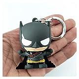 DINEGG Llavero Llavero Figura 3D Figura móvil Charm Cadena Llavero Mochila Colgante para niños (Color: Batman) QQQNE (Color : Batman)
