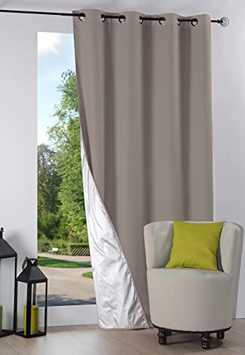 Lovely Casa R64689302 Nelson Rideau Occultant Isolant Polyester Lin 240 x 135 cm