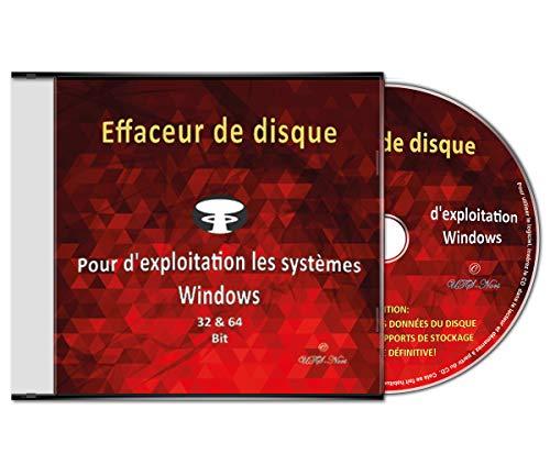 Effaceur & formateur de disque dur pour les systèmes d'exploitation Windows 10 / 8 / 7 / Vista / XP (32 & 64 Bit), destructeur de données, suppression sécurisée de données ' Tous supports de stockage'