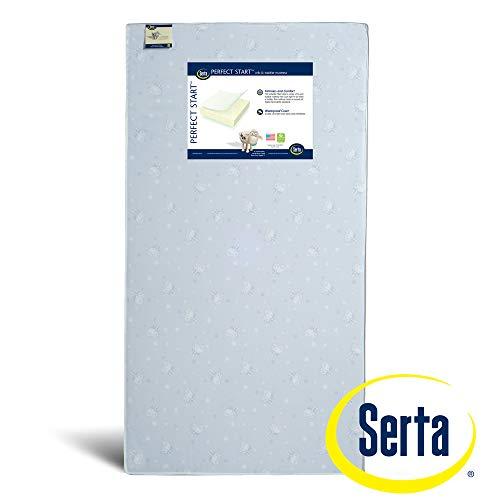 Serta Perfect Start Fiber Core Crib and Toddler Mattress   Waterproof   GREENGUARD Gold Certified (Natural/Non-Toxic)