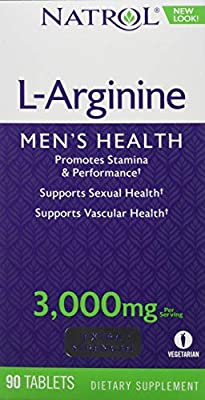 Natrol L-Arginine Tablets, 3000 mg, 90-Count by Natrol