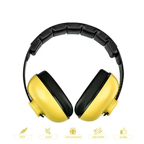 Baby-Ohrenschutz mit Geräuschunterdrückung, Kopfhörer für Kinder, Geräuschunterdrückung, Ohrenschützer, verstellbarer Kopfbügel, Gehörschutz für 0–3 Baby/Jahre Säugling/Kleinkinder (gelb)
