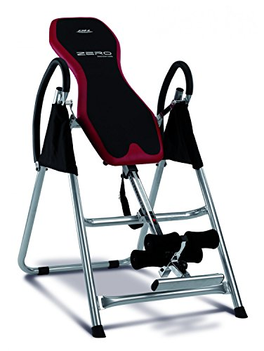 Bh Fitness Unisex's Zero Adjustable Foldable Inversion Table, Black/Red, Unique