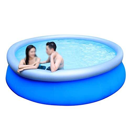 Deluxe Round Inflatable Familienpool, einen großen Außen Planschbecken Sommer-Spaß-Spielzeug-Pool Privater Swimming Pool Wasser-Park (Größe: 188 * 73cm) WTZ012 (Size : 188 * 73cm)