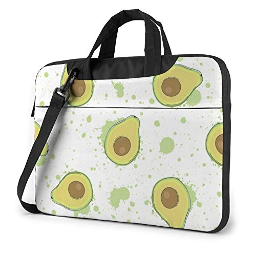 Avocado 13 Inch Canvas Laptop Messenger Bag, Laptop Sleeve Case with Adjustable Shoulder Strap, Laptop Briefcase