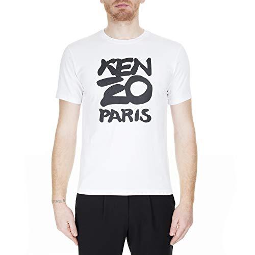 Kenzo Hombre Camiseta Paris Bianco S