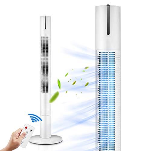 Ventilador de torre ventiladores sin aspas ventilador oscilante de enfriamiento silencioso, con control remoto, ventiladores eléctricos para el hogar, dormitorio, oficina, ajuste de 3 velocidades