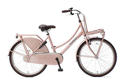 Popal Daily Dutch Basic Kinderfahrräder Mädchen 24 Zoll 42 cm Mädchen Rücktrittbremse Lachsfarben