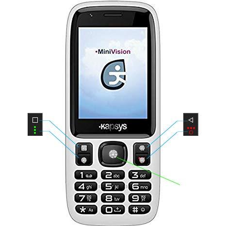MiniVision Lite versione EASY: telefono parlante semplificato adatto ad anziani, non vedenti e ipovedenti