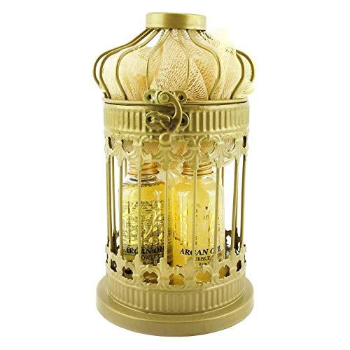 Lanterne métallique de bain - Collection Argan Oil - 5pcs -
