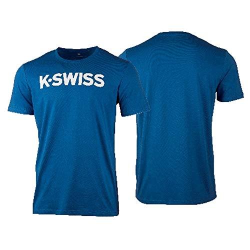 K-Swiss KS TAC Core Logo Camiseta de Tenis, Hombre, Brunner...