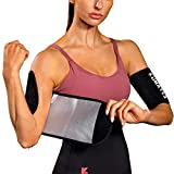 KUMAYES Sauna Arm Trimmer Bands for Women& Men Weight Sweat Arm Slimmer Wraps (Black)