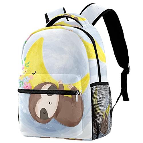 Mochila para niños Perezoso bebé Acuarela Mochilas Escolares para niños y niñas Mochilas Escolares Creativo para Viaje de Estudios 29.4x20x40cm